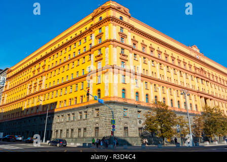 Lubyanka, headquarter of FSB, Russian security services, Meschansky district, central Moscow, Russia - Stock Photo