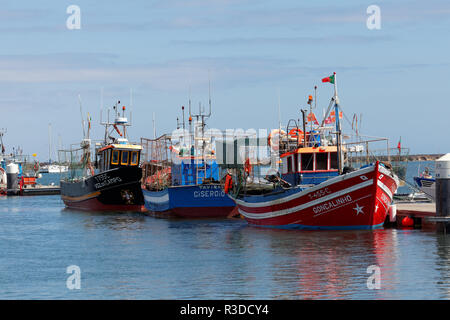 fishing boats in the algarve - Stock Photo