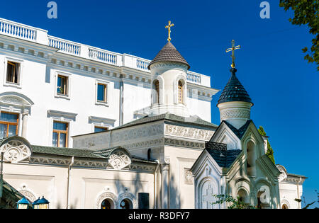 Holy Cross church at the Livadia Palace in Yalta, Crimea - Stock Photo