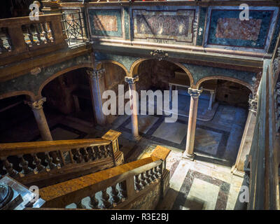 Interior of San Silvestro in Capite catholic church - Rome, Italy - Stock Photo
