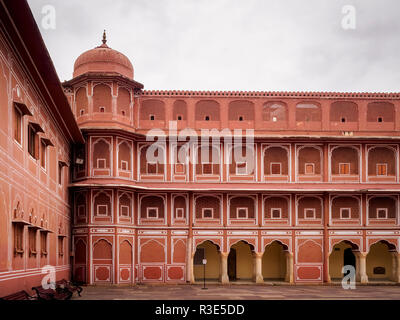 City Palace in Pink City Jaipur, Rajasthan, India - Stock Photo
