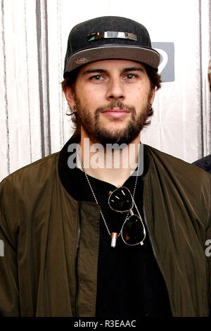 NEW YORK, NY - MAY 15:  Build Presents M. Shadows of Avenged Sevenfold discussing their tour and new album 'The Stage' at Build Studio on May 15, 2017 in New York City.  (Photo by Steve Mack/S.D. Mack Pictures) - Stock Photo