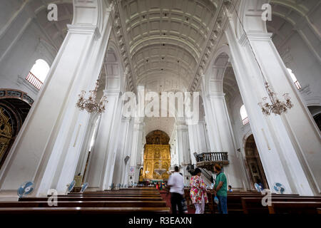 Se Cathedral Church is a Famous Tourist place in Goa in the Western India - Stock Photo