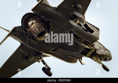 RAF Royal Air Force Lockheed Martin F-35 Lightning II fighter jet plane at Royal International Air Tattoo, RIAT - Stock Photo