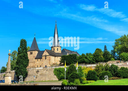 michael church in fulda on cathedral square - Stock Photo
