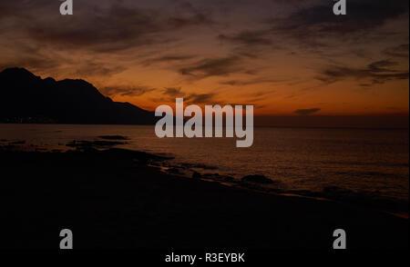 Claudy night sky during the sunrise - Stock Photo