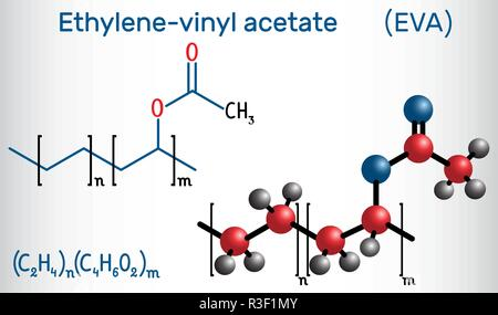 Ethylene Vinyl Acetate Eva Copolymer Chemical Structure