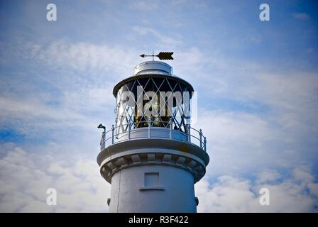 South Stack Lighthouse Lantern, Holyhead, Anglesey, North Wales, UK - Stock Photo
