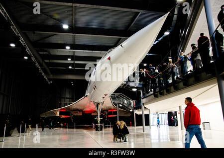 Concorde at Britsol aerospace museum - Stock Photo