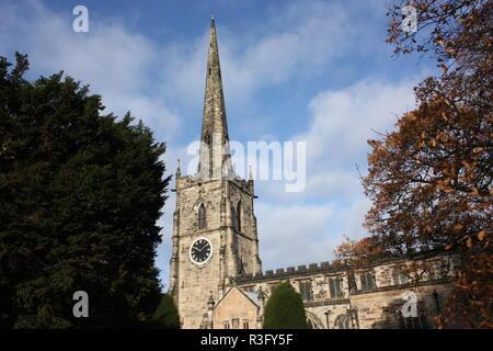 St Wystan's Church, Repton, Derbyshire - Stock Photo