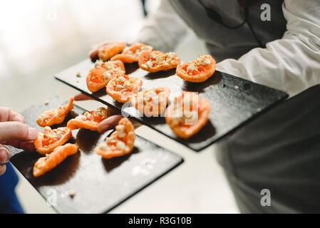 wedding food ideas appetizers - Stock Photo