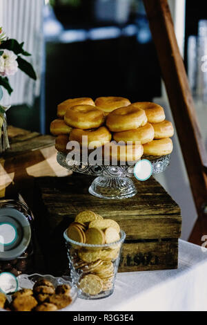 Wedding deserts in candy bar - Stock Photo