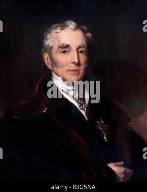 Duke of Wellington, portrait by John Lucas, oil on canvas, 1839. - Stock Photo