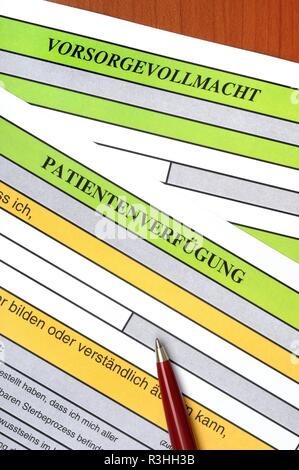 living will / advance directive - Stock Photo