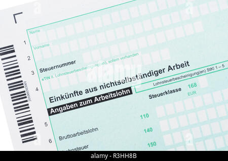 investment n / german income tax - Stock Photo