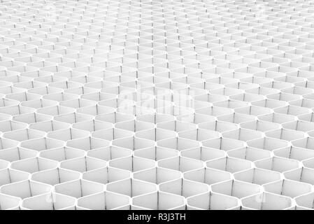 White Modern Interior Background. Abstract Building, pattern wall. - Stock Photo