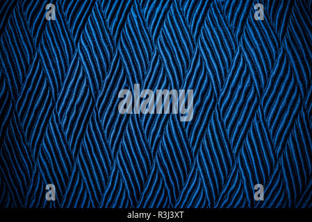 Abstract background from blue texture of old fabric with dark tone. Picture for add text message. Backdrop for design art work. - Stock Photo