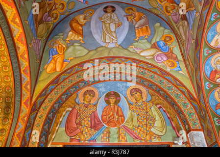 Sioni Cathedral, Interior frescoes representing Biblical scenes, Tbilisi, Georgia - Stock Photo
