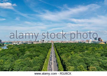 Berlin Mitte Luftbildaufnahme - Stock Photo