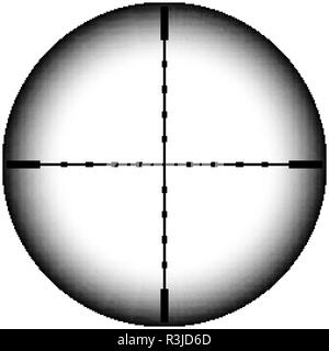 Collimator sight icon. Military sniper rifle target crosshairs - Stock Photo