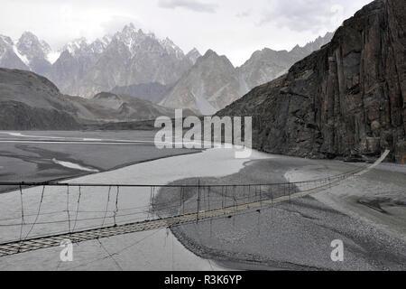 Pakistan, Hunza valley, landscape - Stock Photo