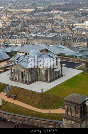 City Observatory, Calton Hill Edinburgh, Scotland, UK. Opened 24 Nov. 2018 with new art gallery and restaurant providing panoramic views - Stock Photo