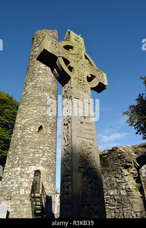 Ireland, County Louth. Celtic cross at the monastic site of Monasterboice. Muiredach's High Cross - Stock Photo