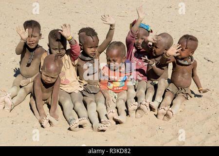 Africa, Namibia, Opuwo. Himba children. Credit as: Wendy Kaveney / Jaynes Gallery / DanitaDelimont.com - Stock Photo