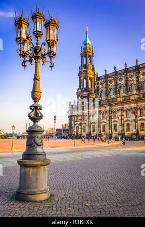 Dresden, Germany. Dresda Cathedral of the Holy Trinity or Hofkirche. - Stock Photo