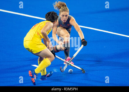Changzhou, China 24 November 2018 Champions Trophy: Netherlands v China Laura Nunnink of The Netherlands Credit: Orange Pictures vof/Alamy Live News - Stock Photo