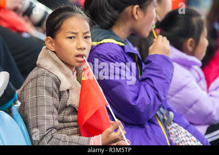 Changzhou, China 24 November 2018 Champions Trophy: Netherlands v China Chinese spectator Credit: Orange Pictures vof/Alamy Live News - Stock Photo
