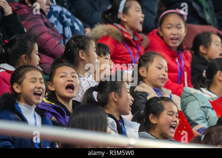 Changzhou, China 24 November 2018 Champions Trophy: Netherlands v China Chinese spectators Credit: Orange Pictures vof/Alamy Live News - Stock Photo