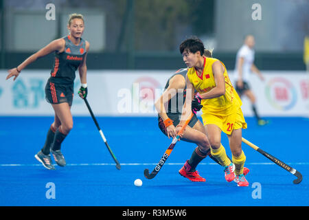 Changzhou, China 24 November 2018 Champions Trophy: Netherlands v China Jiangxin He of China Credit: Orange Pictures vof/Alamy Live News - Stock Photo