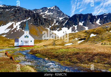 South Georgia Island, Grytviken, Church - Stock Photo