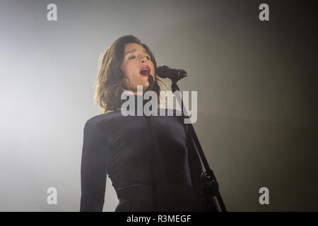 Jessie Ware at 'Warsaw is Trendy' concert  in front of Palace of Culture and Science in Warsaw, Poland | 4 September 2015 - Stock Photo