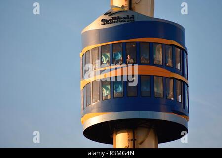 Orlando, Florida. November 18, 2018  Sky Tower is a principal icon of Seaworld Theme Park. - Stock Photo