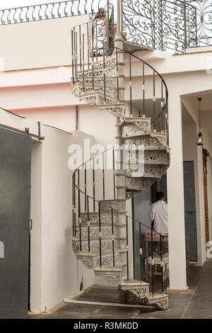 Cuba, Havana. Spiral staircase to La Guarida restaurant. Credit as: Wendy Kaveney / Jaynes Gallery / DanitaDelimont.com - Stock Photo