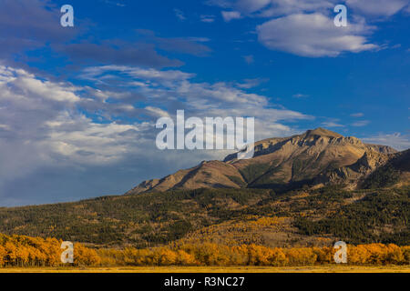 Sofa mountain in autumn in Waterton Lakes National Park, Alberta, Canada - Stock Photo