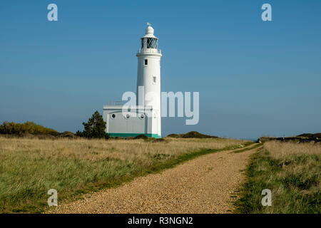 Hurst Point Lighthouse in the Solent, Hampshire, England, UK. - Stock Photo