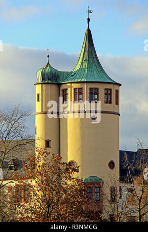 tower of the historical museum of the palatinate in speyer - Stock Photo