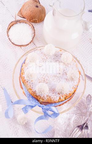 kokos quark cake - Stock Photo
