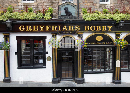 Greyfriars Bobby Pub on Candlemaker Row in Edinburgh city centre, - Stock Photo
