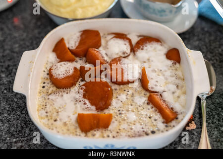 a family tradition the candied sweet potatoes - Stock Photo