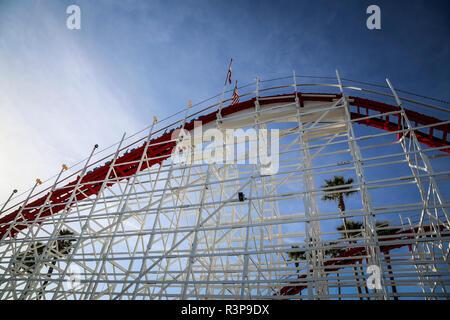 rollercoaster santa cruz,usa - Stock Photo