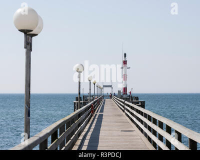 The Pier in Wustrow on Fischland, Europe, Germany, West-Pomerania, June - Stock Photo