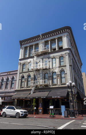 The Old City Hall bar and restaurant in the Gaslamp Quarter, San Diego, California, United States, - Stock Photo