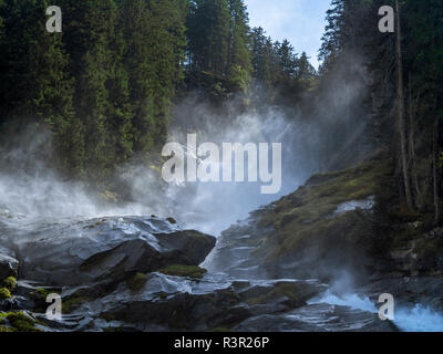 Krimmler Falls, Hohe Tauern National Park, Salzburger Land, Austria, Europe