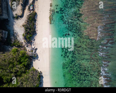 Indonesia, Bali, Aerial view of Karma Kandara beach - Stock Photo