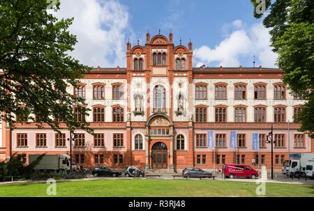 Rostock University, the main building. City of Rostock at the coast of the German Baltic Sea. Germany, Mecklenburg-Western Pomerania - Stock Photo