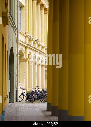 Buildings of the University of Rostock. City of Rostock at the coast of the German Baltic Sea. Germany, Mecklenburg-Western Pomerania - Stock Photo